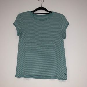American Eagle Blue and White Striped Tee